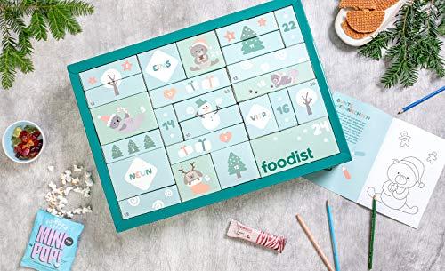FOODIST Kinder Adventskalender 2020-24 leckereien Mädchen & Jungs Advent Kalender, Süßigkeiten Weihnachtskalender für Jungs & Mädels Schokolade