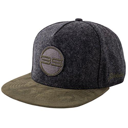 Blackskies Snapback Cap Wildleder Camo Denim Schirm Flanell Unisex Premium Baseball Mütze Kappe Wolle, Gaea, Einheitsgröße