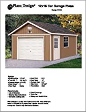 12' X 16' Car Garage Project Plans – Design #51216