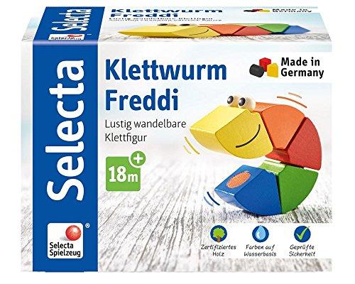 Selecta 62040 Jouet éducatif Velcro Ver Freddi, 16 cm
