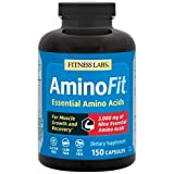 AminoFit Essential Amino Acids - Complete & Optimum Ratio with BCAAs - For Muscle Growth and...