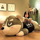 Daxiong Husky Grand-Puppe Riesen Hund Bär Plüschtier Niedlich Zwei Ha Schlafkissen Puppe,150cm