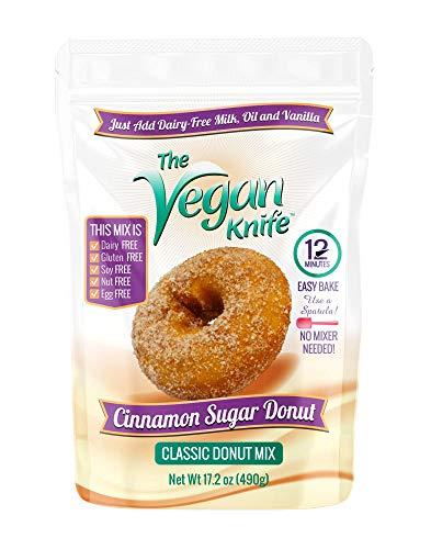 The Vegan Knife Gluten Free & Vegan Donut Baking Mix Cinnamon Sugar Flavor