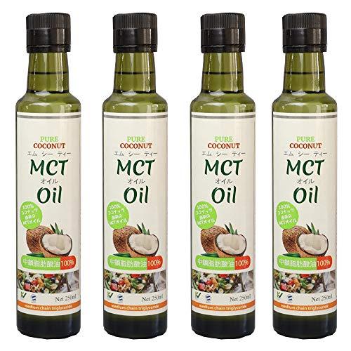 ウルトラミックス MCTオイル(エムシーティーオイル)250ml×4本セット 1リットル 中鎖脂肪酸油100%
