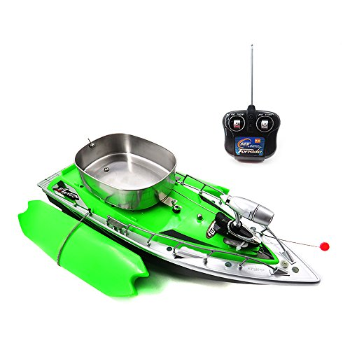Goolsky Flytec Intelligent Wireless Electric RC Fishing Bait Boat Remote Control Fish Finder Ship Searchlight Toys(Green)
