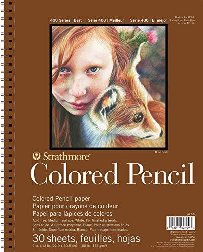 Colored Pencil PAD 9X12 30SHT 400 Series, 9 x12 , White, 30 Sheets