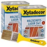 Xyladecor 2in1 Holzschutzlasur salzgrün 1,5 l inkl. Xyladecor Pinsel