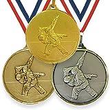 Trophy Monster Medalla de Judo de alta definición de 42 mm o 52 mm con cinta de latón | oro, plata o bronce.