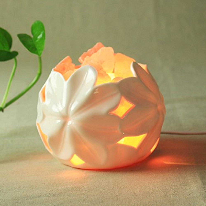 XUEYAN Kristallsalz Lampe Himalayan S Keramik Kreative Dekorative Tischlampe Schlafzimmer Bedside Continental Nachtlicht