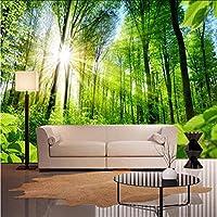 Djskhf 壁の個々の写真の壁紙3D壁紙自然の木リビングルームの家の装飾の寝室の森の風景のための3D壁画 360X250Cm