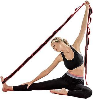 ZSZBACE Sangles de Yoga pour l/étirement-Ceinture de Yoga avec des Boucles pour Le Yoga Conditionnement Sportif entra/înement ou entra/înement Fitness Danse