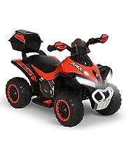 HOMCOM Quad Eléctrico ATV Cuatrimoto con Faros Música MP3 Caja de Almacenaje para Niños de +18 Meses Batería 6V Recargable 78,5x40,5x46 cm Verde