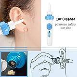 Kit de retrait de Earwax électrique, aspirateur d'oreille aspirateur électrique, automatique électrique d'oreille nettoyeur d'oreille-Pick facile Earwax enlèvement nettoyant (2 PCs)
