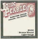 John Pearse Strings 3260L For Baritone Acoustic Guitar - 80/20 Bronze - Standard Tuning - Light Gauge