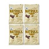 NATRULY Beef Jerky Original, Carne Seca 100% Vacuno, Sin Gluten, Sin Lactosa, Sin Azúcar, Sin Aditivos Artificiales -Pack 4x25g
