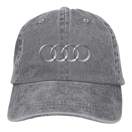AASPOZ Men Womens Vintage Adjustable Casquette Audi Logo Baseball Cap, Gray
