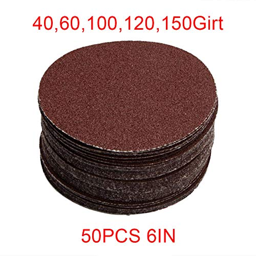 Runde Sandpapiere Aluminiumoxid Schäkel Sandblatt Körnung 40/120/60/100/150grit, CHINA