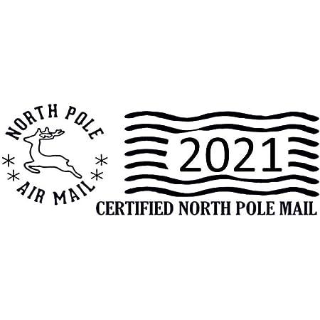 North Pole//Santa//Christmas//Reindeer//Sleigh Postmark Stamp