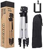 Treppiede da Viaggio per Fotocamera, Tripod di Alluminio Leggero da 50cm, Treppiedi da Viaggio per Cellulare e Fotocamera +...