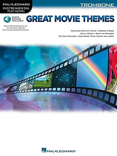 Great Movie Themes - -For Trombone- (Book & Online Audio): Play-Along, Sammelband, Download (Audio) für Posaune (Hal Leonard Instrumental Play-along)