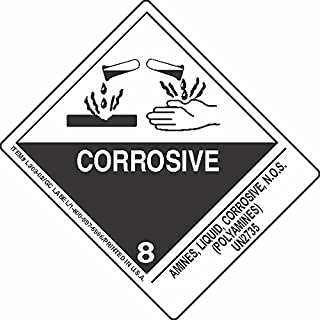 GC Labels-L303P3050, Amines, Liquid, Corrosive, N.O.S. (Polyamines) UN2735, Roll of 500 Labels