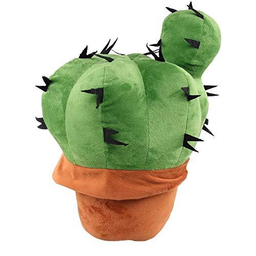 Almohada de Cactus,Lindo Almohada,Almohada de Felpa Cactus,Muñeca de Cactus,Almohada Rellena Cactus,Se puede utilizar como cojín para oficina, cama, sofá, asiento de automóvil (37cm / 14.56in)