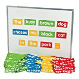 Fun Express Sentence Building Magnetic Set - 205 Pieces - Educational and Learning Activities for Kids