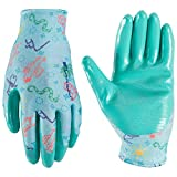 Wells Lamont Kids Gardening, Work Gloves with Nitrile Grip, Fits Youth Ages 5-8 (468Y)