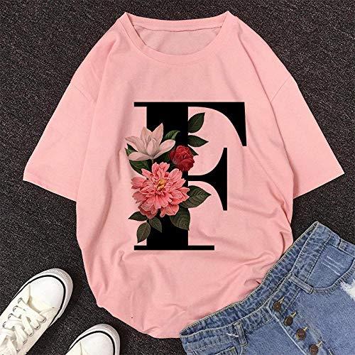 Camiseta para Mujer Camiseta con Estampado De Alfabeto Ingl�