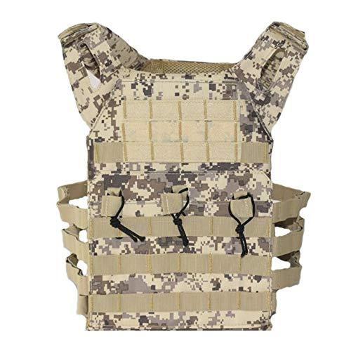 Equipo Militar Chaleco Táctico Chalecos De Caza Paintball Chaleco Táctico Airsoft Deporte Al Aire Libre Wargame Combat Carrier Vest Waistcoat (Color : Desert Digital, Size : One Size)