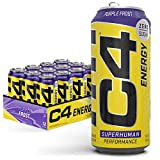 C4 Original Sugar Free Energy Drink | Purple Frost | Pre Workout Performance Drink with No Artificial Colors or Dyes , 16 Fl Oz (Pack of 12)