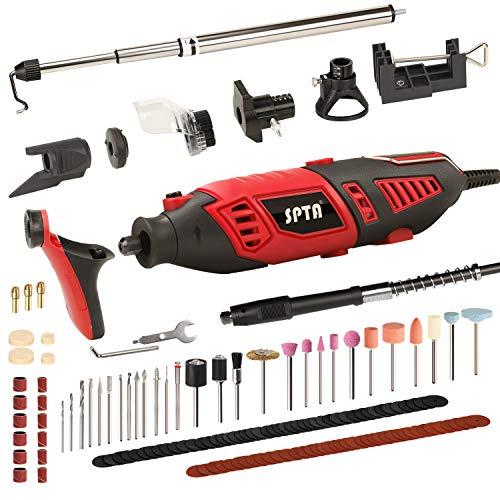 SPTA Multifunktionswerkzeug, 170W Drehwerkzeug mit 135 Zubehör für Dremel und Proxxon, 6 Variable Drehzal Mehrzweck Schleifmaschine zum Fräsen Trennen Schleifen Gravieren