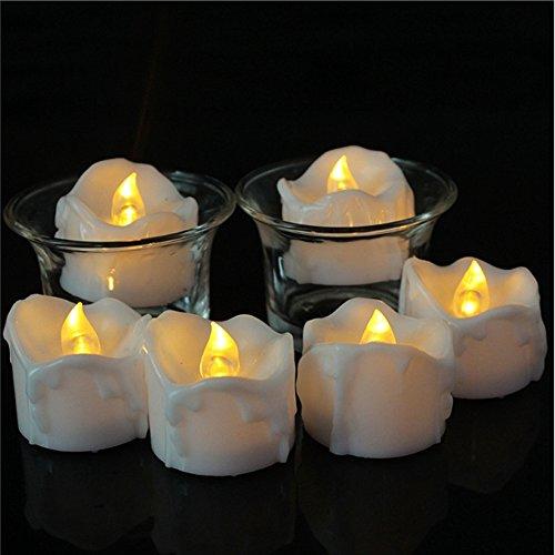 LED Kerzen, Zuoao Flammenlose Kerzen Batteriebetriebene im 12er Set mit Timerfunktion, Echt Flammen...