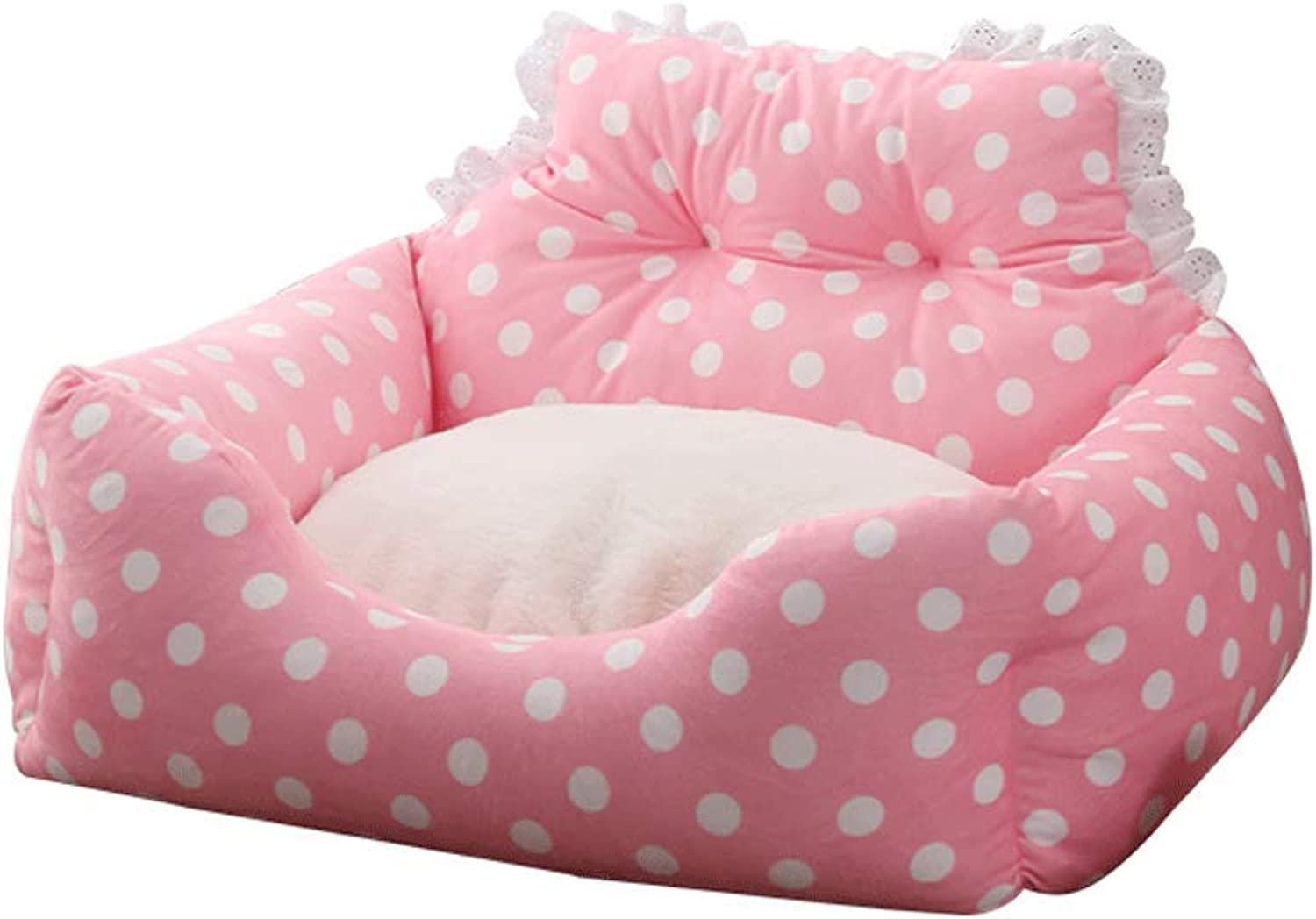 Kennel Removable Dog Mat Four Seasons Dog Bed Teddy Small and Medium Dog Pet Dog Dog Sofa Predect The Spine (color   C, Size   M)