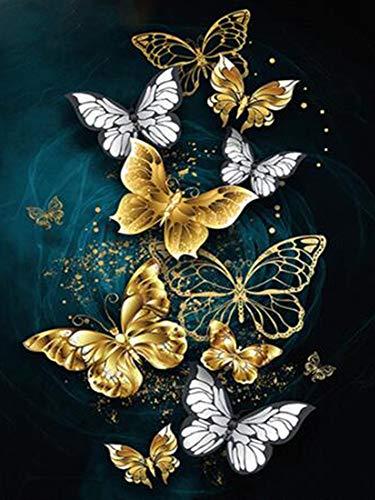 Diamante pintura mariposa 5D DIY diamante bordado arte conjunto mosaico hecho a mano regalo diamante pintura A4 60x80cm