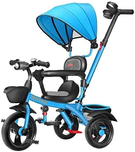 Kindertrikes driewieler ouder duwen driewieler voor kinderen verstelbare stoel met luifel duwen handvat groei-met hoofd wandelwagen Trike Convertible