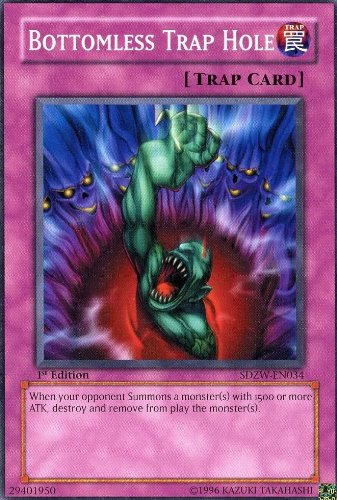 Yu-Gi-Oh! - Bottomless Trap Hole (SDZW-EN034) - Structure Deck Zombie World - 1st Edition - Common