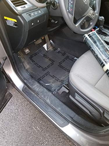 Armordillo Heavy 4 mil 100% American Protective Cover Auto Adhesive Floor Mats, (Perfed Every 21', Clear, Removable) … (Printed with Dealer Must Remove)