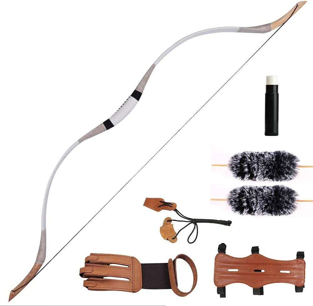 MIRACLE BLACK Traditional Max 86% OFF Longbow Set Le - Handmade Rapid rise 30-65lbs Cow