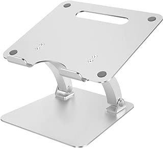 Nulaxy ノートパソコン スタンド PCスタンド 折り畳み式 滑り止め アルミ製 Macbook/Macbook Air/Macbook Pro/iPad/ノートPC/タブレット 10~17.3インチに対応 シルバー