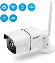Veroyi Outdoor Security Camera, 1080P WiFi Wireless Surveillance Camera with Night Vision, Motion Detection, 2 Way Audio, Remote Monitor Auto Motion (Upgraded Version)