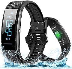 ELEGIANT Pulsera de Actividad Inteligente Reloj Deportivo IP67 para Hombre Mujer con GPS Monitor de Sueño Podómetro Contador Notificación Whatsapps Facebook Llamadas iPhone Huawei Xiaomi Android …