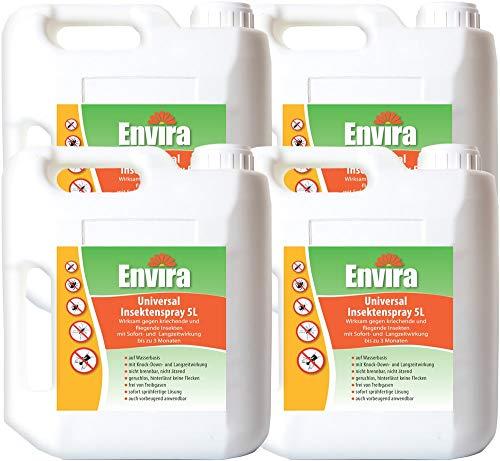 Envira Universal-Insektizid - Hochwirksames Insekten-Spray Mit Langzeitschutz - Auf Wasserbasis - 4 x 5L