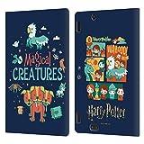 Head Case Designs Licenciado Oficialmente Harry Potter Criaturas mágicas Deathly Hallows I Carcasa de Cuero Tipo Libro Compatible con Amazon Kindle Fire HDX 8.9