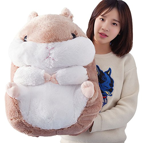 KaiPoint Cute Fat Hamster Doll Plush Toys Birthday Present Plush Stuffed Animal Toys (Brown-58CM (22in)) L