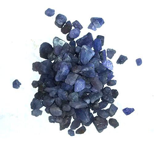 Tansanit, kleine Rohsteine (Splitter), 5-15 mm - 100g