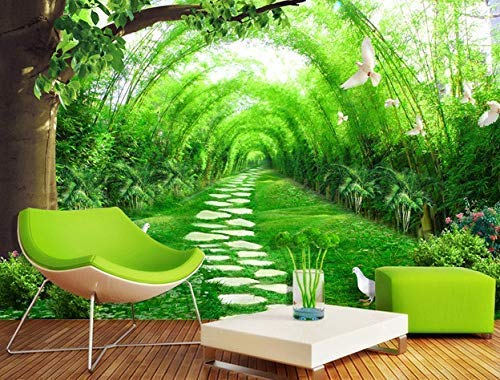 Forest Wallpaper Jungle Way Wall Mural 3D Landscape Wall Print Natural Home Decor Cafe Design Living Room