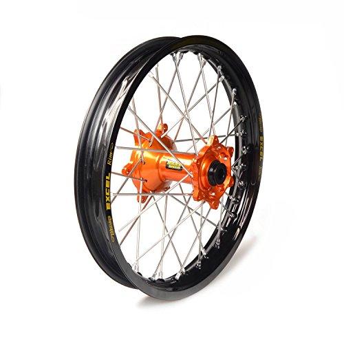 61597 - Cercle noir à pleine roue 14-1,60 buje naranja 1 34002/3/10 compatible avec KTM SX 85 rueda pequeña 2004-2016