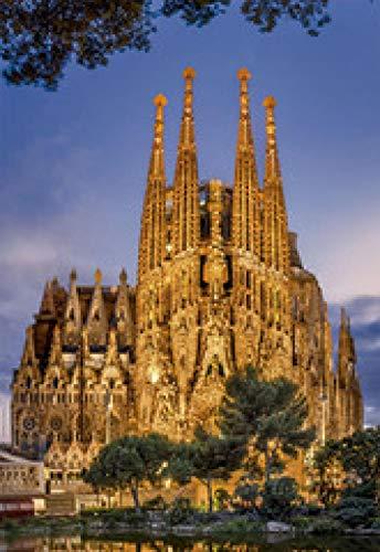 WOMGD® Puzzels 1000 stukjes, voor volwassenen Houten puzzel, Educatief spel Brain Challenge Puzzel voor kinderen Kinderspeelgoed - Sagrada Familia Cathedral