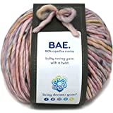 BAE by Living Dreams Yarn. Cuddly, Strong & Super Soft for Next to Skin Winter Knits. 100% Extrafine Merino Bulky Roving Yarn, First Date
